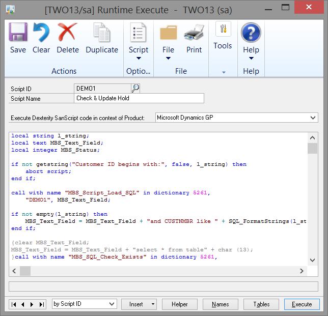 RuntimeScript