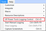 GP Power Tools Menu Window