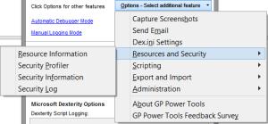GP Power Tools Options Menu 2