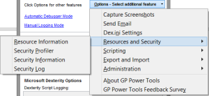 GP Power Tools Options Menu 2