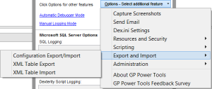 GP Power Tools Options Menu 4