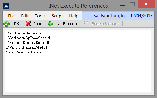 Net Execute References