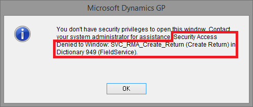 Access Denied With Details