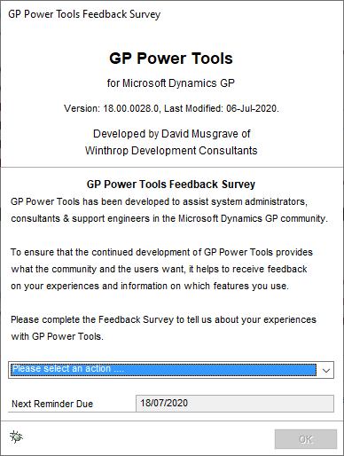 Survey Dialog